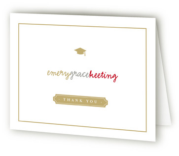 Book Plate Grad Graduation Announcement Thank You Cards