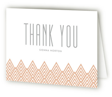 Golden Ray Graduation Announcement Thank You Cards
