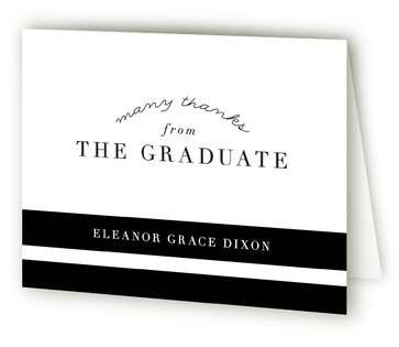 Classic Grad Graduation Announcement Thank You Cards