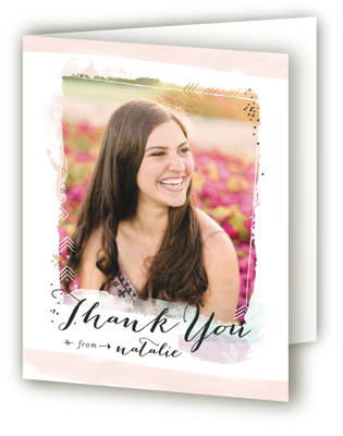 Effervescence Graduation Announcement Thank You Cards