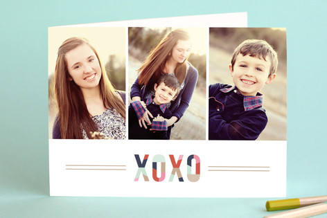 Modern XOXO Valentine's Day Greeting Cards