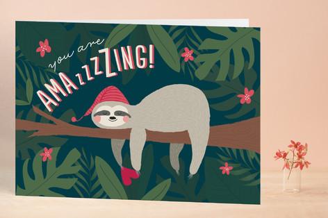 Sleepy Sloth Valentine's Day Greeting Cards