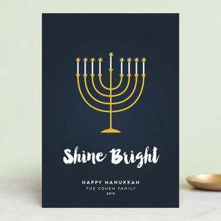 Shine Bright Menorah Hanukkah Petite Cards