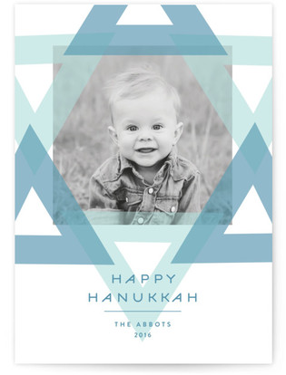 Abstract Star Hanukkah Cards