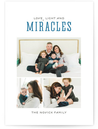 Light and Miracles Hanukkah Cards
