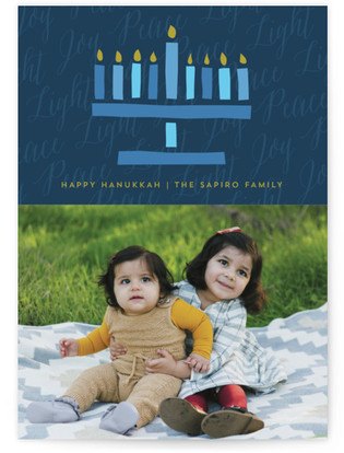 Peace Joy Light Hanukkah Cards