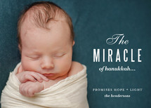 Miracle and Light Hanukkah Cards