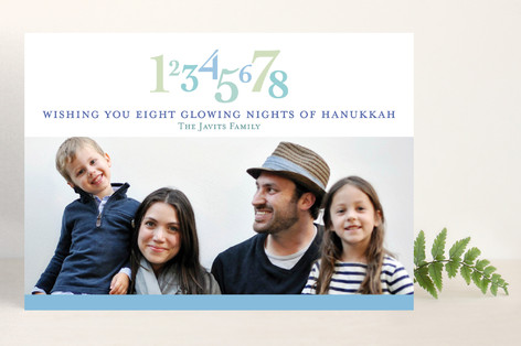 Eight Glowing Nights Hanukkah Cards