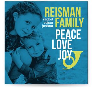 Peace Love and Bop Hanukkah Cards
