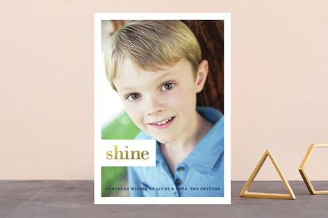 Shining Type Hanukkah Cards