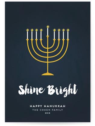 Shine Bright Menorah Hanukkah Cards