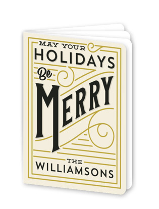 Merry Lines Holiday Booklette Card