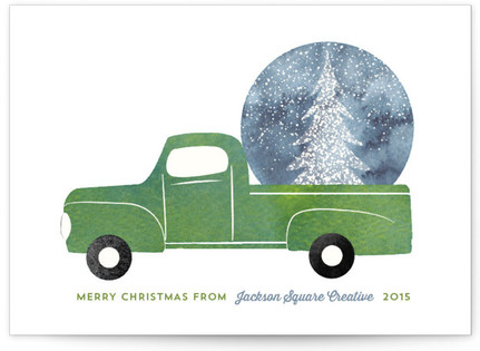 Christmas Truck Business Holiday Cards