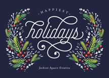 Festive Foliage Business Holiday Cards