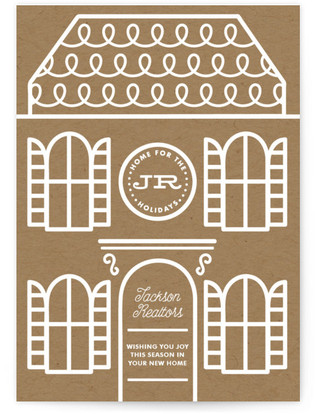 Gingerbread Home For The Holidays Business Holiday Cards