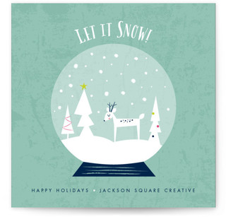 Let It Snow Globe Business Holiday Cards