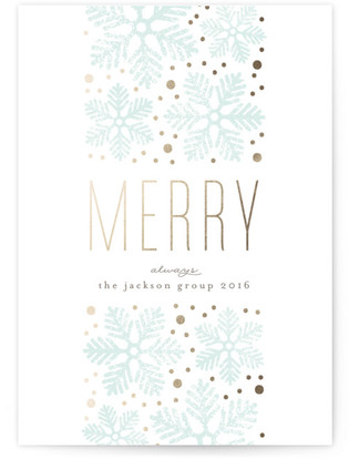 Snowflake Band Business Holiday Cards