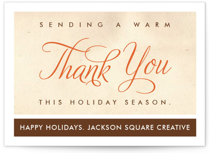 Mama's Thank You Business Holiday Cards