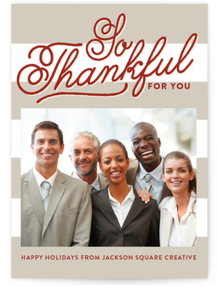 Thankful Business Holiday Cards