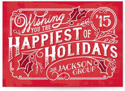 Happy Holly Days Business Holiday Cards