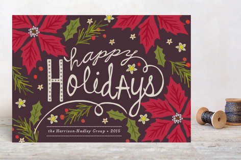 Poinsettia Ball Business Holiday Cards