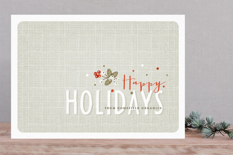 Holiday Berries Business Holiday Cards