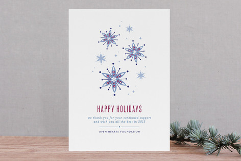 Mod Snowflake Business Holiday Cards