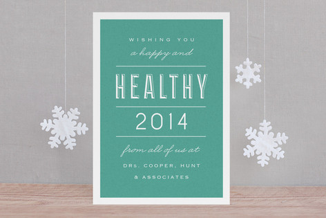 Healthy New Year! Business Holiday Cards