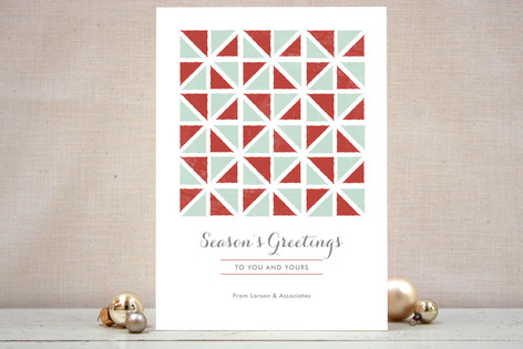 Geometric Holiday Business Holiday Cards