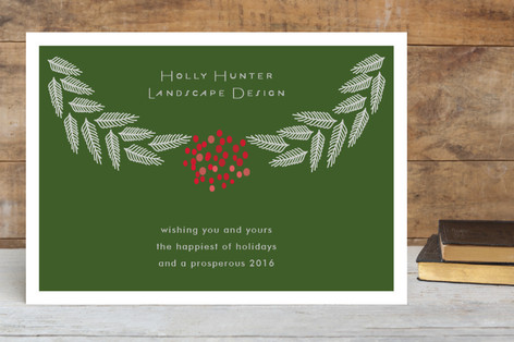 Branches and Berries Business Holiday Cards