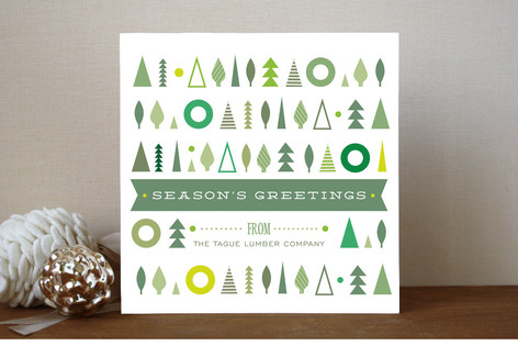 Tree Holiday Business Holiday Cards