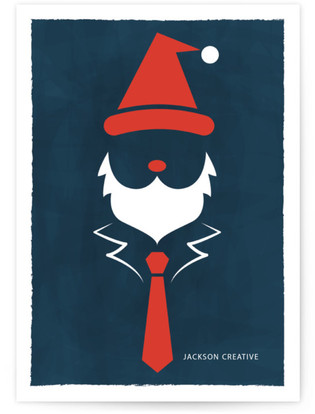 Corporate Santa Business Holiday Cards