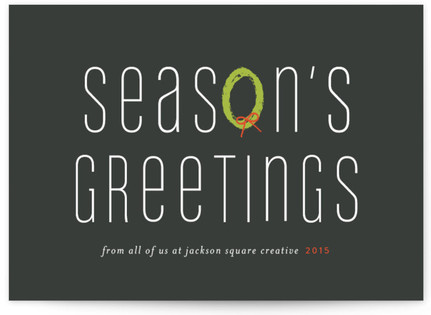 Wreath Greetings Business Holiday Cards