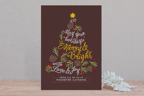 Be Merry and Bright Business Holiday Cards