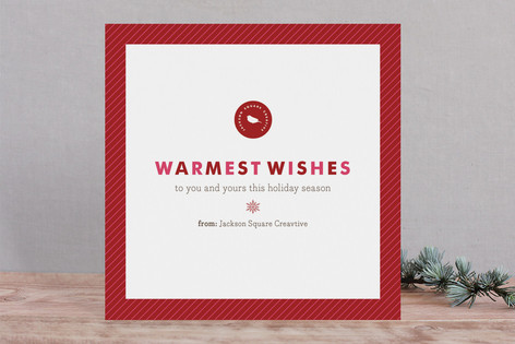 Snowflake Wish Business Holiday Cards