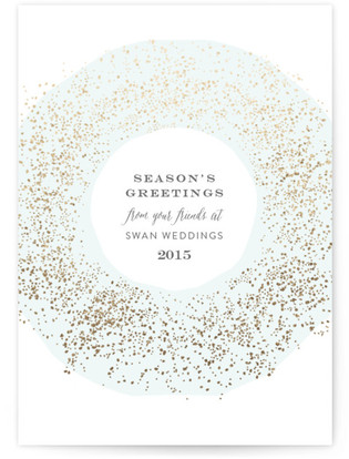Snow Wreath Business Holiday Cards