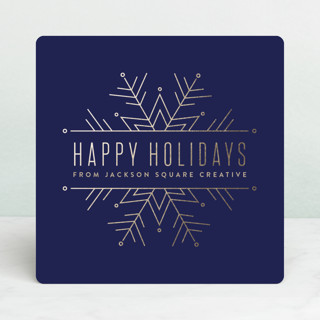 Chic Snowflake Business Holiday Cards