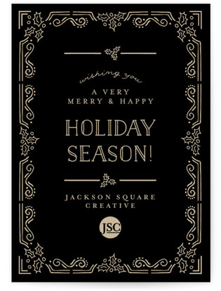 Corporate Elegance Business Holiday Cards
