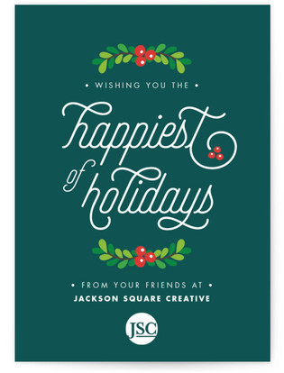 Happiest Holidays Business Holiday Cards