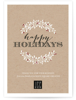 Holiday Thanks Business Holiday Cards