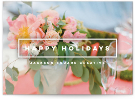 Holidays Stamp Business Holiday Cards