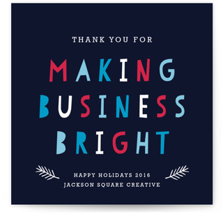 Making Business Bright Business Holiday Cards