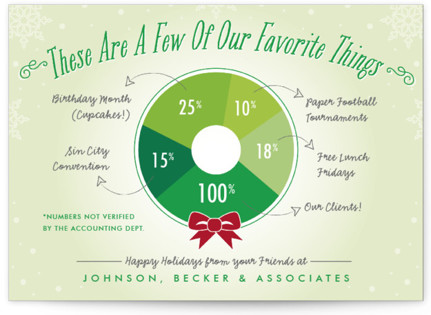 Favorite Things Wreath Business Holiday Cards