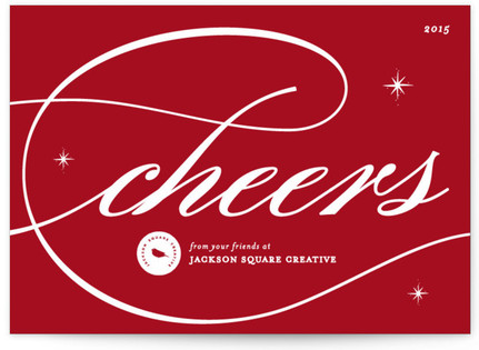 Formal Cheers Business Holiday Cards