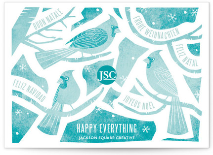 Christmas Birds Business Holiday Cards
