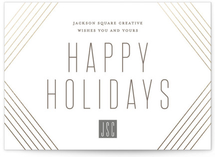 Holiday Wrap Business Holiday Cards