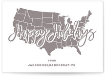 USA Map Happy Holidays