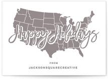 USA Map Happy Holidays