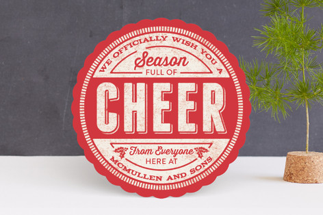 Cheer Stamp Business Holiday Cards