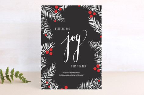 Painterly Pines Business Holiday Cards